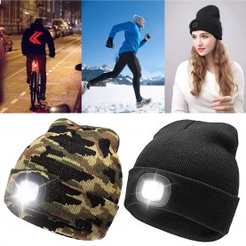 WINTERCAP mit LED Lampe E-Swiss