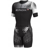 Triathlon short sleeve race suit Erox 3in1 women